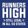 """white runners high still legal in all 50 states lettering on top of a true royal image"""