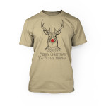 """""""graphic of rudolph the red nosed reindeer and merry christmas ya filthy animals on the front of a soft cream crew neck unisex t-shirt"""""""